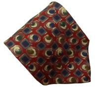 HARVE BENARD Men's Geometric Designer Silk Suit Dress Necktie Tie, NWOT