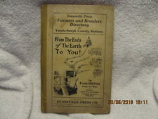 1919 Farmers & Breeders Directory of Vanderburgh County IN Many Names Great Ads