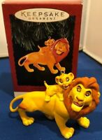 Hallmark 1994 Keepsake Ornament The Lion King Mufasa and Simba NEW