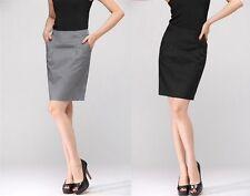 Professional Women's Plain Office High Waist Suit Skirt