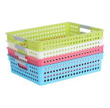 Classroom Kitchen Closet Organizer Book Storage Baskets Bins Plastic Quantity 4