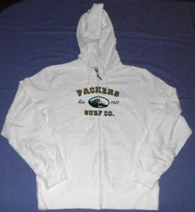 Green Bay Packers Hoodie Ladies Medium Full Zip Reebok NFL Cool Logo