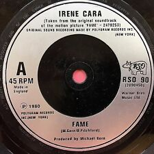 Irene Cara - Fame (TV Series Theme) / Never Alone - RSO 90 Ex Condition