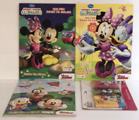4pc Set Disney Minnie Mickey Coloring & Activity Books with 3 Packs Of Crayons