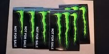 LOT 5 AUTOCOLLANTS / STICKER MONSTER ENERGY - 7.3 CM * 11 CM !!! NEUF - OFFICIEL