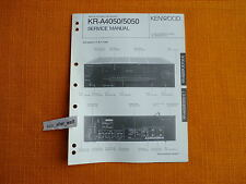 SERVICE MANUAL Kenwood KR A4050 A5050 english Service Anleitung