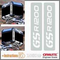 2x GS R 1200 Reflective White Adesivi TOP CASE BMW Motorrad Stickers PEGATINA