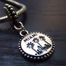 Miami Palm Tree European Charm Pendant Bead For All European Charm Bracelets