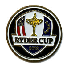 "2012 RYDER CUP - Black FLAT 1"" Metal Logo BALL MARKER - Original Never Used"