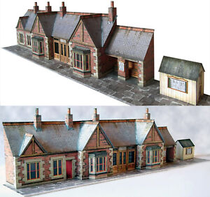 7mm Scale Station Building Kit Ideal For O Gauge, Trains, Trams, 1:43 Scale Cars
