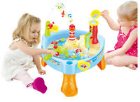 CHILDRENS LIGHTHOUSE WATER MILL PLAY TABLE FISHING GAME LIGHTS & SOUNDS 889-68