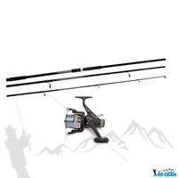 Karpfen Set Angelset Rute 3,60m 120g WG + Freilauf Rolle & Schnur Karpfenrute
