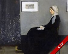WHISTLER'S MOTHER FINE ART PAINTING REAL CANVAS GICLEE 8X10PRINT