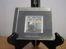LOUIS ARMSTRONG & DUKE ELLINGTON TOGETHER & REUNION RARE MFSL SEALED ALUMINUM CD