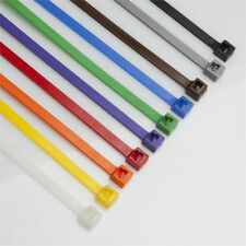 "1000 COLORED 11"" Inch Long 50# Pound NYLON Cable Ties Zip Ty Tie Wraps MADE USA"