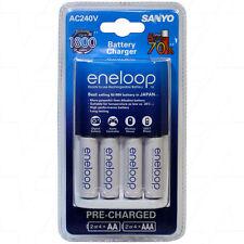 Sanyo eneloop AA AAA Battery Charger With 4 AA eneloop Batteries