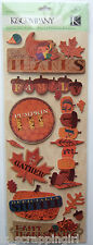 ~THANKSGIVING ADHESIVE CHIPBOARD~ Stickers K & Company Co; Give Thanks, Harvest