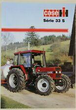 prospectus brochure tracteur CASE IH SERIE 33S tractor traktor prospekt trattore