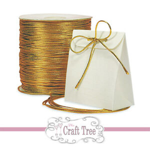 Gold - Silver Metallic Cord / Twine / String --- 1mm width --- Various lengths