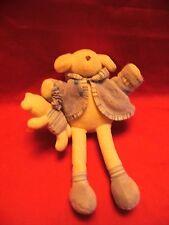 "vintage jellybaby Jellycat Blue Puppy Dog 9"" Musical Soft Toy Comforter J550"