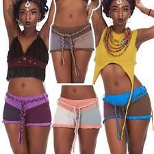 Yoga Booty Shorts, Organic cotton shorts, festival rave EDM psy trance clothing