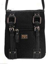 Etienne Aigner Signature Crossbody Handbag Black Logo Top Zip New! NWT