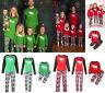 New Family Matching Christmas Pajamas Set Womens Baby Kids Sleepwear Nightwear