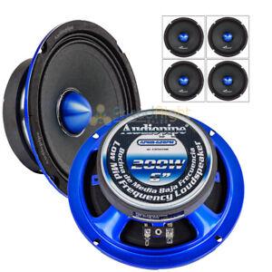 "4 Pack Audiopipe APMB-628PM 6"" 200 Watt Mid Range Loudspeaker 4 Ohm Slim Mount"