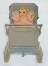Vintage Paper Doll Baby with Buggy, Clothes and Accessories