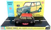 Vintage 1960s CORGI TOYS 249 MORRIS MINI COOPER Diecast Model & Custom Display