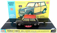 Vintage 1960s CORGI TOYS 249 MORRIS MINI COOPER Diecast Model & Custom Display