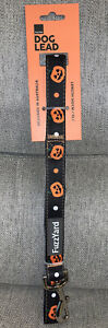 "FuzzYard Halloween Pumpkins Orange Black White LEAD LEASH  Puppy/Dog 55"" NWT"