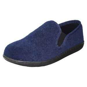 KING EASE MENS CLARKS SLIP ON COSY WARM INDOOR HOUSE LOUNGE SLIPPERS SHOES SIZE