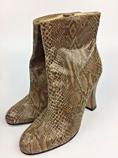 Martinez Valero Leather Snakeskin Print Ankle Boots 5 1/2 B