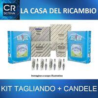 KIT TAGLIANDO FILTRI ORIGINALI + OLIO + 4 CANDELE ALFA ROMEO GIULIETTA 1.4 GPL
