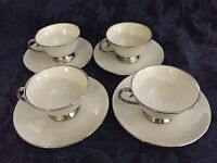 Flintridge China~Made In California, Bellmere Pattern ~(8)  Cups and Saucers