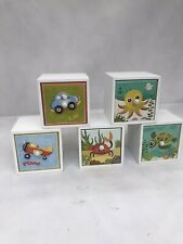 Wooden Storage Drawers Mini For Kids Set Of 5 Colourful Perfect Cond