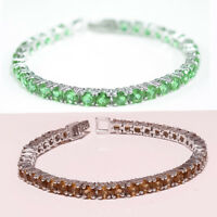 925 Sterling Silver Color Change Diaspore Gemstone Wedding Jewelry Bracelet New