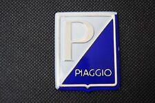 VESPA Piaggio Legshield White/Blue Adhesive Badge