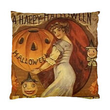 A Happy Halloween Pumpkin Vintage Cushion Pillow Case