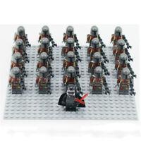 21PCS Mandalorian Commando Army Soldier Building Blocks Mini Figure DIY Toys