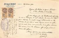 Ancienne lettre - Me Henri NOIROT Huissier Audiencier  à Langres 1930