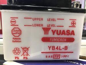 YB4L-B  YUASA Lead Cell LONG LIFE Motorcycle Scooter Atv Battery