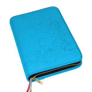 Gotteslob Hülle Gotteslobhülle Kunst Leder türkis hellblau Ornament Gebetbuch