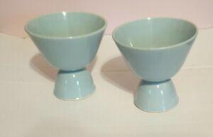 Turquoise / Aqua Egg Cups Set of 2