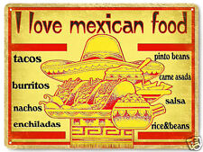 MEXICAN food metal sign / tacos burritos VINTAGE style RESTAURANT wall decor 441