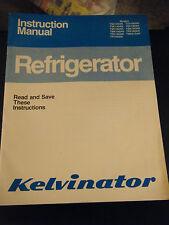 Vintage 1982 Kelvinator Refrigerator Instruction Manual 120AN/140AN/160AN/180AN