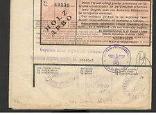 WWII-GERMANY OCC SERBIA-DOCUMENT RAIL CARGO LIST FOR WOOD-IMPRINTED REVENUE-1942