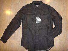 G-Star Raw Arc Zip slim fit shirt, M, New with Tags, black
