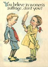 """Vintage Suffragette Propaganda """"YOU BELIEVE, DON'T YOU?"""" 250gsm A3 Poster"""
